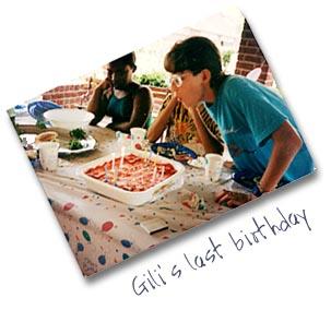 Gili's last birthday
